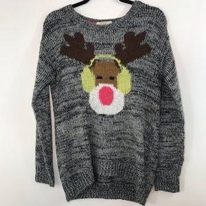 Ugly Christmas Rewind Reindeer Sweater Medium
